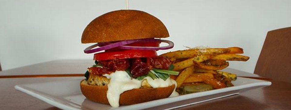 Cordon Bleu Burger at AQUA Restaurant