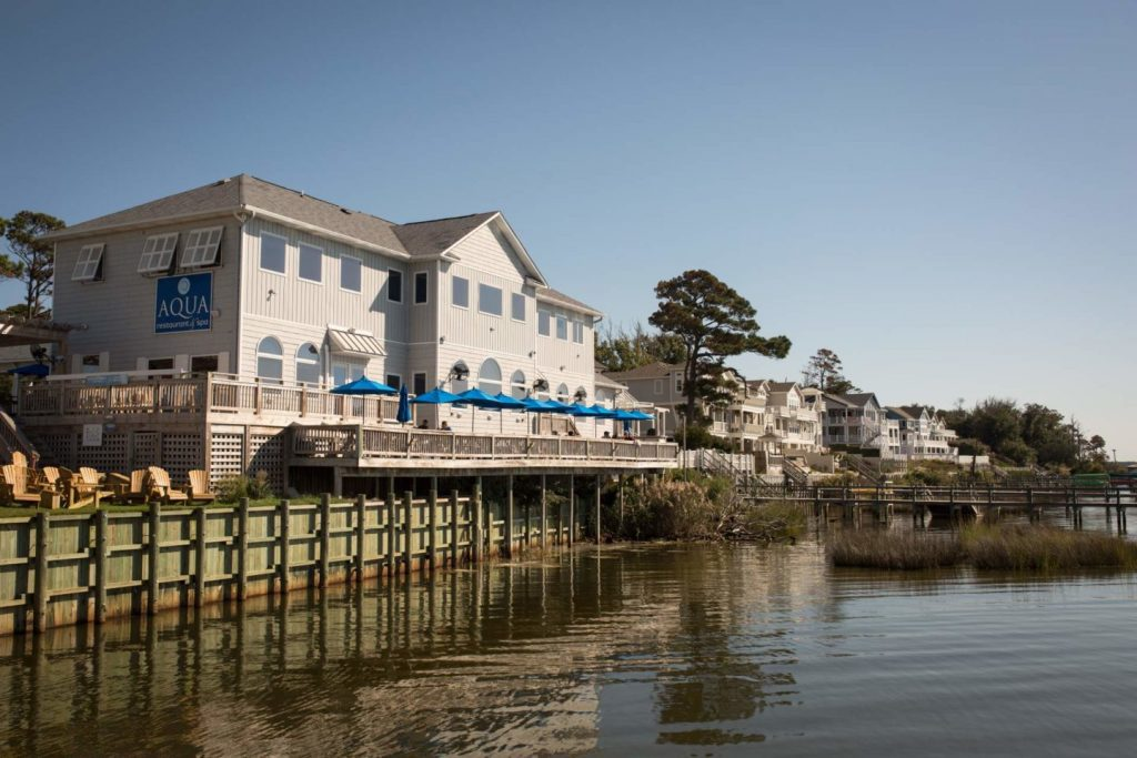 aqua restaurant duck nc outer banks restaurant on the waterfront