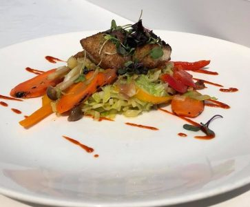 Fish Special for Lunch at AQUA Restaurant