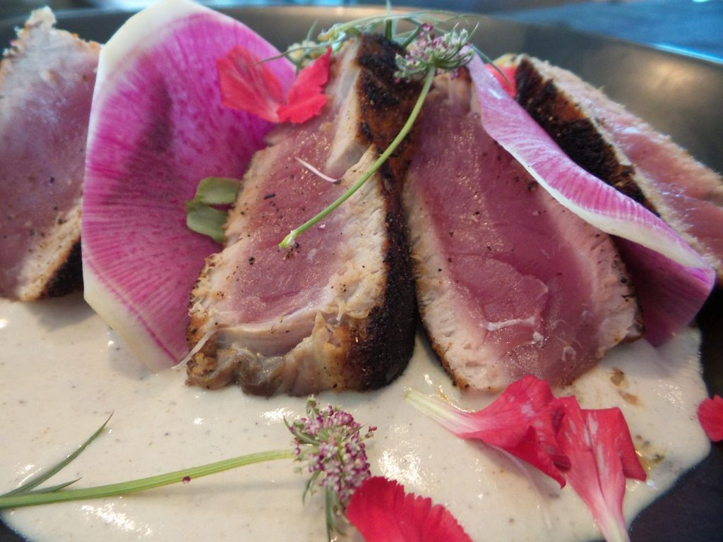 Seared Bigeye Tuna at AQUA Restaurant