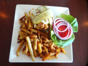 Fried Chicken Sandwich at AQUA Restaurant