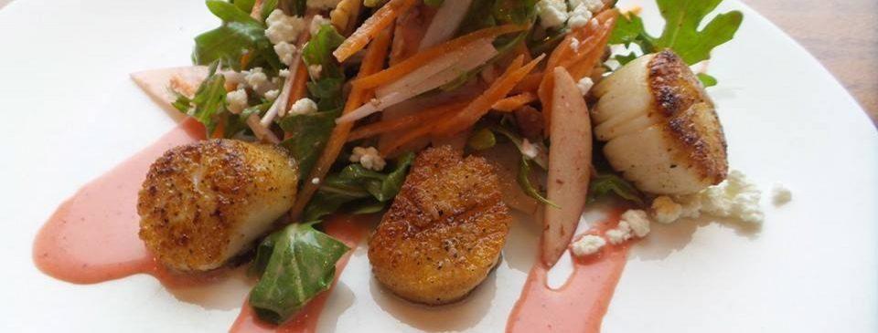 Scallop Appetizer Special at AQUA Restaurant