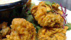 Fried Oysters at AQUA Restaurant Duck NC
