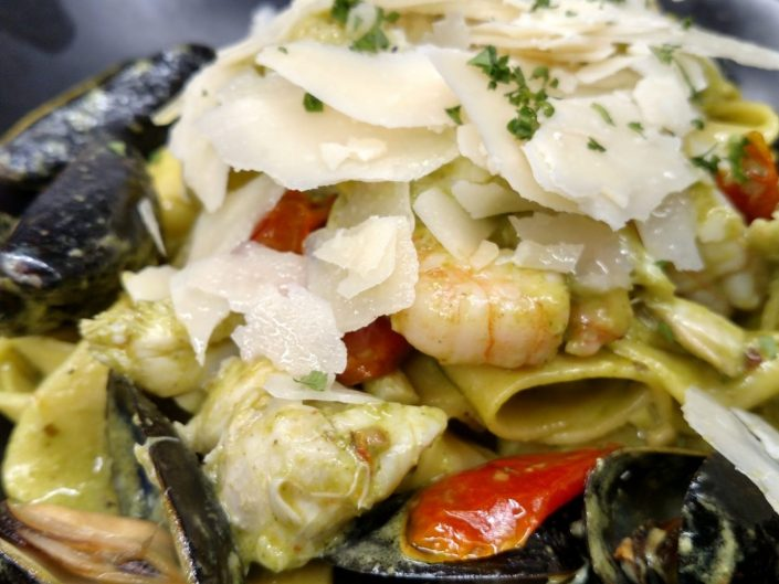 Fruits De Mer Pasta at AQUA Restaurant Duck Nc