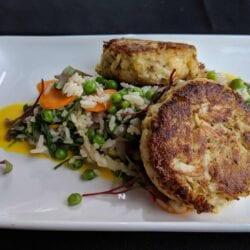 Crab Cake Dinner Fall 2018 AQUA Restaurant Duck NC
