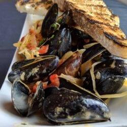 P E I Mussels Fall 2018 AQUA Restaurant Duck NC