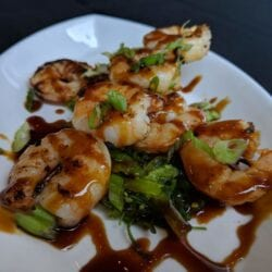 Shrimp Skewers Fall 2018 Menu AQUA Restaurant Duck NC