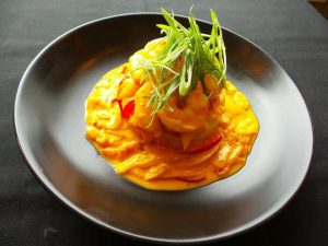 Coconut Curry Shrimp Lunch AQUA Restaurant