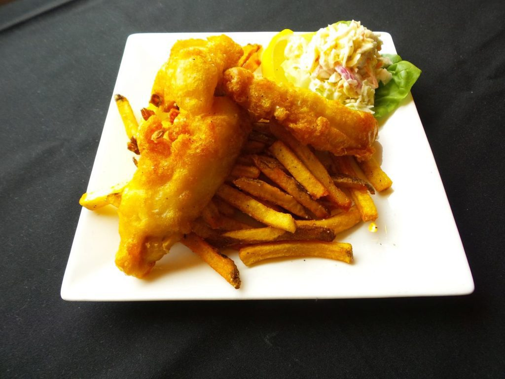 Fish and Chips served at AQUA Restaurant