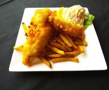 Fish and Chips served at AQUA Restaurant