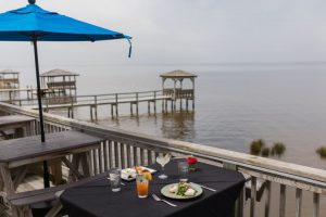 It's a Beautiful Day for Lunch & Dinner on our Waterfront Deck!