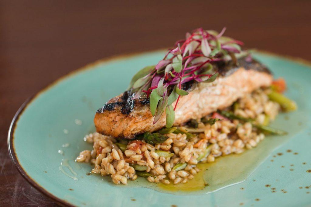 Seared Scottish Salmon at AQUA Restaurant