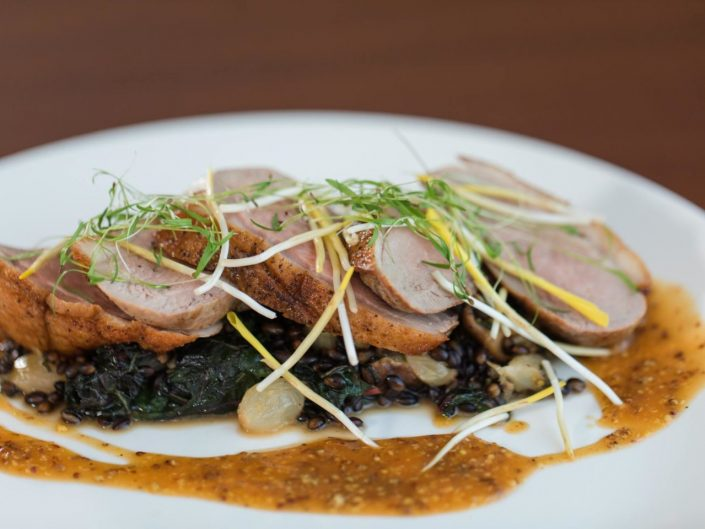 Seared Maple Leaf Farms Duck Breast
