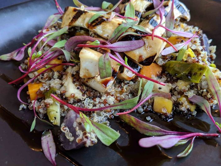 Wild Mushroom Quinoa Bowl at AQUA Restaurant