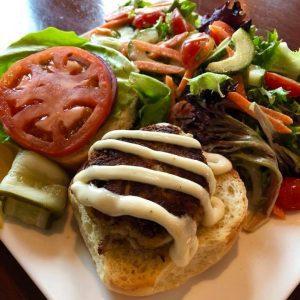 Crab Cake Sandwich at AQUA Restaurant Duck NC