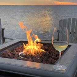 Don't let winter's chill keep you from enjoying the AQUA sunset.