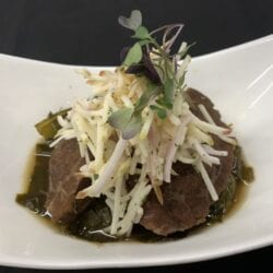 Braised Pork Cheeks on AQUA's Tapas Menu will Melt in Your Mouth