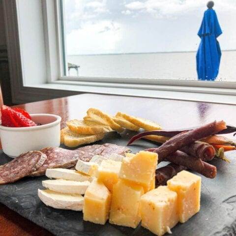 Cheese and Charcuterie at AQUA Restaurant
