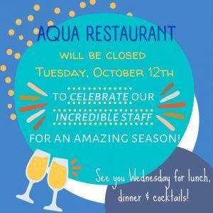 AQUA Restaurant will…